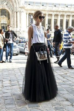 On Chiara Ferragni, the ballskirt works out and about