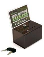 Acrylic Ballot Box with Lock & 6 x 4 Header - Black