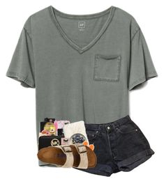 A fashion look from February 2018 featuring tee-shirt, levi shorts and arch support shoes. Browse and shop related looks. Lazy Day Outfits, Cute Comfy Outfits, Cute Summer Outfits, Simple Outfits, Outfits For Teens, Spring Outfits, Trendy Outfits, Cool Outfits, Summer Clothes