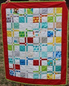 Disappearing Four Patch Baby Boy Quilt. $95.00, via Etsy.