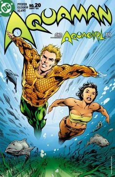 Unlike the new aquaman who looks a bit hippi-ish, the older aquaman of the with his crew cut hair, his mastery of the oceans and his lovely wife mera, of the long wavy orange hair was the one to go for. Aquaman Dc Comics, Dc Comics Heroes, Arte Dc Comics, Dc Comics Characters, Comic Book Heroes, Comic Books Art, Marvel Comics, Superhero Characters, Book Art