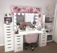 glam beauty Room - Hollywood Makeup Vanity Mirror with Lights-Impressions Vanity Glow Pro Makeup Vanity Mirror with Dimmer Lights for Tabletop or Wall Mounted Vanity Makeup Rooms, Makeup Vanity Mirror With Lights, Vanity Room, Makeup Room Decor, White Makeup Vanity, White Vanity, Long Mirror With Lights, Makeup Beauty Room, Mirror Room