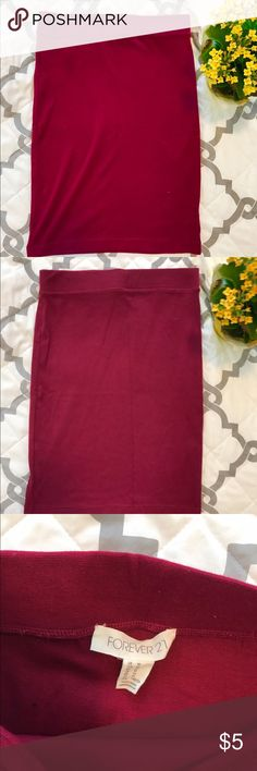 Maroon Forever21 Skirt This is a cute maroon skirt that has only bee worn once Forever 21 Skirts