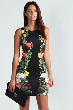 Samantha Floral Side Bodycon Dress, also from Boohoo