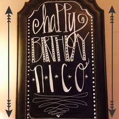 Happy Birthday chalkboard art