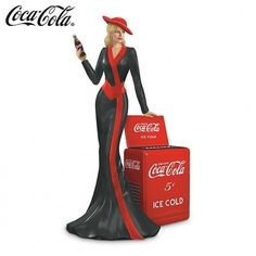 40's Glamour and Coca Cola. Cute figurine