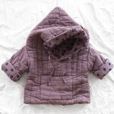 le toit de la lune organic quilted jacket - rose - tops - baby | Thumbe Line