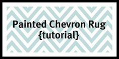 Painted Chevron Rug Reveal {tutorial}