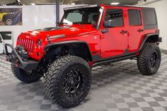 """Brand New 2015 Jeep Wrangler Rubicon Unlimited Fuel 18-inch wheels Toyo 37"""" Open Country M/T Tires AEV 3.5"""" Dual Sport Suspension Lift Baja Designs Onyx 6 50-inch Light Bar"""