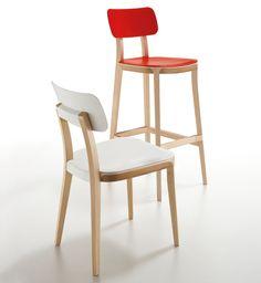 Design barhocker h henverstellbar retro barstuhl aus holz for Barhocker porta