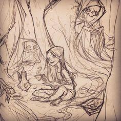 1,671 отметок «Нравится», 10 комментариев — Abigail Larson (@abigail_larson) в Instagram: «Saturday sketching ✍️»