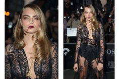 Cara Delevingne - Weird Mouth Toothpick Accessory - Elle