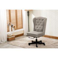 dg casa chadwick linen upholstered home office chair