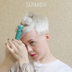 """7,624 Likes, 146 Comments - Sarah H. (@sarahb.h) on Instagram: """"▶#sarahstyles Messy #pixie / I used my mini flatiron (old, unknown brand) to give my super straight…"""""""