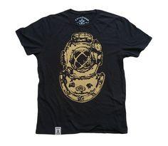 Mark V-Antique Divers Helmut: Organic Fine Jersey Short Sleeve T-Shirt