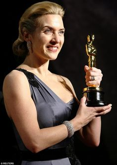 Toilet humour: Kate loves to boast about the fact she keeps her Oscar for Best Actress in her lavatory