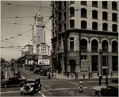 Los Angeles, 1939 - Looking north on Spring St