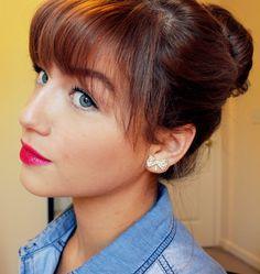 Red Lips and the Sock Bun #redlips #sockbun #howto #beauty #makeup #makeuptutorial
