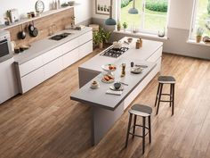 Trendy Home Rustic Kitchen Cabinet Colors Ideas Rustic Kitchen Cabinets, Kitchen Cabinet Colors, Kitchen Interior, Kitchen Decor, Kitchen Island Lighting Modern, Kitchen Island With Seating, Shabby Chic Kitchen, Cuisines Design, Trendy Home