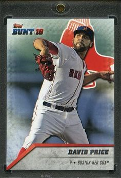2016 Topps Bunt Baseball 1/1 Blank Back. David Price RED SOX