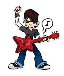 royalty free clipart image of an anime rock star entertainment rh pinterest com