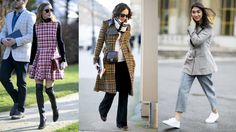Plaid Proves Popular Outside The Paris Couture Shows. Our favorites street style looks from the week.