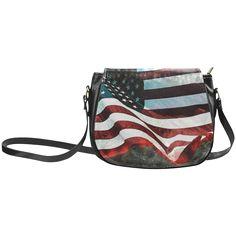 A abstract waving usa flag Classic Saddle Bag/Large (Model Large Bags, Small Bags, Abstract Waves, Usa Flag, Saddle Bags, Classic, Model, Derby, Big Bags