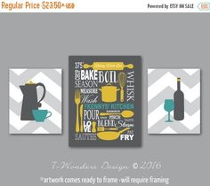 ON SALE Personalized Kitchen Art Subway Style with Coffee and