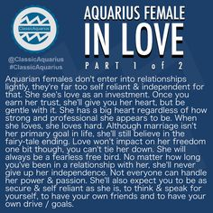 AQUARIUS FEMALE IN LOVE. . #ClassicAquarius #Aquarian #Aquarius