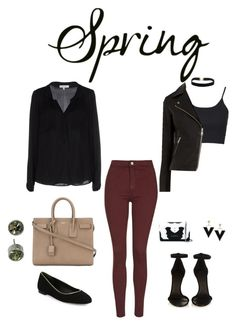 """Contest Entry #daytoevening #spring #classic #black"" by bridgetcurzi on Polyvore featuring Topshop, Warehouse, Yves Saint Laurent, Diane Von Furstenberg, Isabel Marant, Milly, Michael Kors and Givenchy"