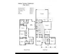 Navy Region Hawaii – Halsey Terrace Neighborhood: 5 bedroom home floor plan.