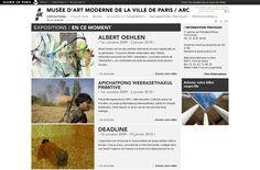 Musée d'Art Moderne de Paris (MAM) : création réalisation du site internet. #Minit-L www.minit-l.com