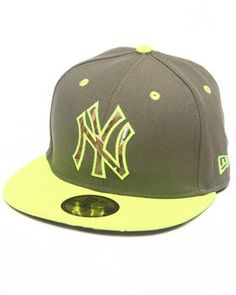 New Era | New york yankees real fill 5950 fitted hat. Get it at DrJays.com