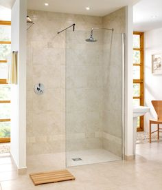 floor to ceiling shower wall