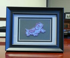 TCU Horned Frogs Framed Vintage Embroidered by theuniversitystore