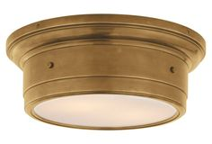 Newhouse Flush Mount, Antiqued Brass - Ceiling Lights & Fans - Indoor and Outdoor Lighting - Lighting | One Kings Lane