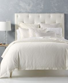 Hotel Collection Trousseau Duvet Covers, Created for Macy's - Bedding Collections - Bed & Bath - Macy's Guest Bedroom Decor, Bedding Master Bedroom, Bedroom Ideas, Bedroom Wallpaper, Wood Bedroom, Dorm Bedding, Simple Bedroom Design, Master Bedroom Design, Master Suite