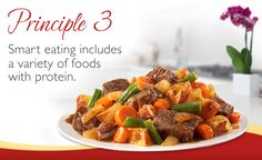 Say 'YES' to foods with protein with Smart Ones® 6 Smart Eating Principles