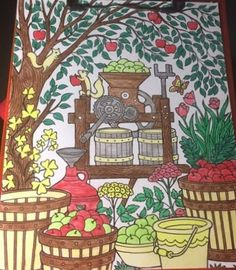 ColorIt Blissful Scenes Colorist: Gail Durham #adultcoloring #coloringforadults #adultcoloringpages #blissfulscenes