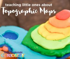 Use WonderMaps and Playdough to build three-dimensional topographic maps, and then have the kids map their creations. Teaching World Geography, Geography Lessons, Teaching History, History Education, Primary Education, Map Activities, Science Activities For Kids, Science Ideas, Indoor Activities