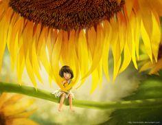 Sunflower child by darkmello on DeviantArt