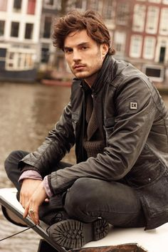 Truffol.com | This guys, is how you pull off a biker look without going overboard. #rugged #urbanman #style