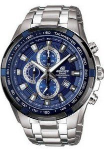 "Casio Men's EF539D-2AV Edifice Stainless Steel Chronograph Tachymeter Sport Watch Casio. $148.00. Date display, Regular timekeeping [ Analog: 3 hands (hour, minute, stopwatch seconds), 3 dials (timekeeping second, stopwatch hours, stopwatch minutes) ]. 100-meter water resistance, Case / bezel material: Stainless steel, ""Double-lock, 1-press, 3-fold Buckle"", Stainless Steel Band, Solid Band. 1-second stopwatch [ Measuring capacity: 11:59'59, Measuring mode: Elaps..."