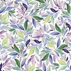 Watercolor Leaves Repeat by Elena Vladykina