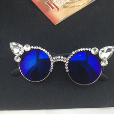 Retro Cat Eye Skinny Sunglasses Women Vintage Festival Rave Retro Wide Ibiza