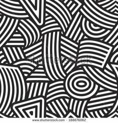 Seamless black and white stripes pattern.
