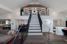 Contemporary barn house with inviting backyard