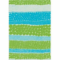 Jurmo fabric, in blue and green.