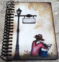 caderno com carimbos loucas por caixas - Loucas por caixas - Terra Fotolog