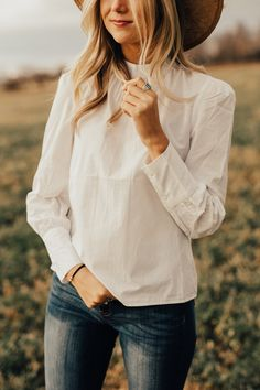 Vincent Cotton Blouse | ROOLEE